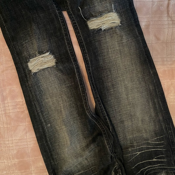 EXPRESS Skinny Distressed Jeans
